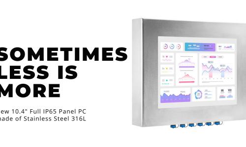 New Release: 10.4″ Full IP65 Panel PC